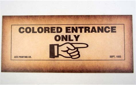 colored signs black americana quot colored entrance only quot paper sign