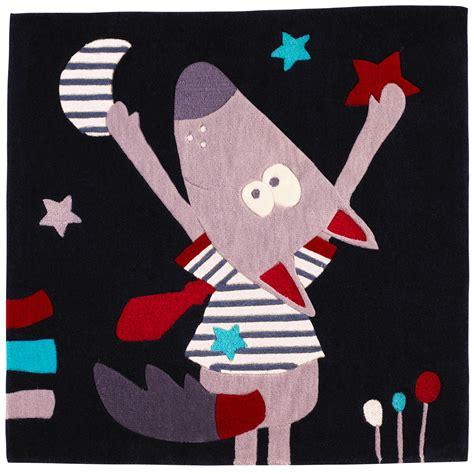porte manteau chambre bebe mister bouh tapis 110x110 noir de sauthon baby déco tapis