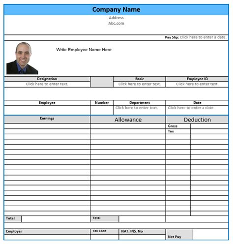 salary slip format templates microsoft word templates