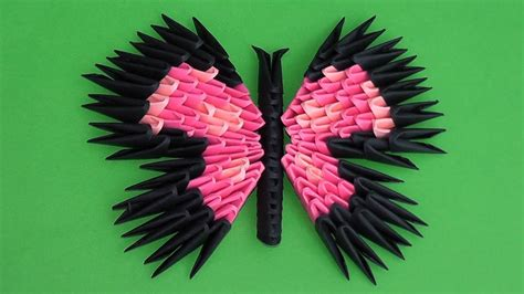 Origami Butterfly Assembly Diagram Tutorial