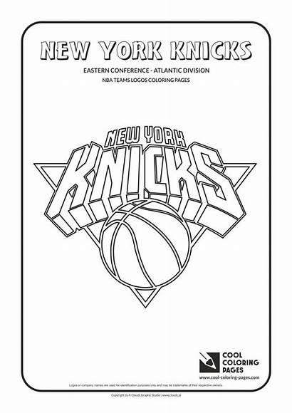 Nba Coloring Pages Logos Knicks Teams Cool