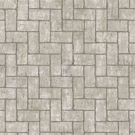 Concrete Paving Herringbone Outdoor Texture Seamless 05858