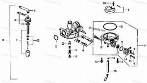 Honda Motorcycle 1979 Oem Parts Diagram For Carburetor