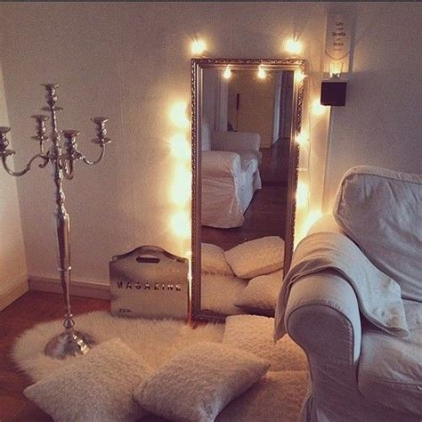 bedroom mirror shag rug with twinkle lights but the floor l candelabra though i want