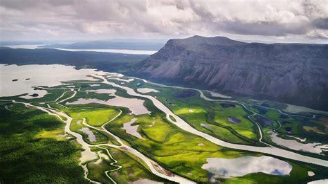 landscapes sweden valley rivers wallpaper