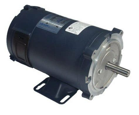 Electric Motor Frame by 1 Hp 1750 Rpm 180 Volts Dc 56c Frame Tefc Leeson Electric