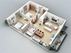 apartment designs shown with rendered 3d floor plans With construire sa maison 3d 9 duplex 6 piaces et 2 garages entreprise de construction