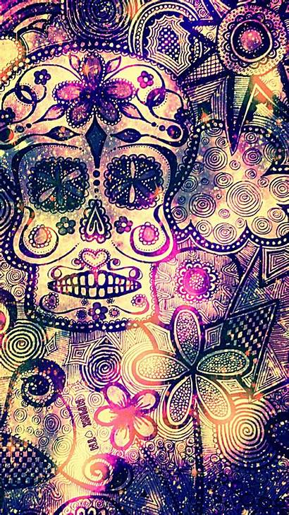 Skull Floral Galaxy Wallpapers Girly Android Iphone
