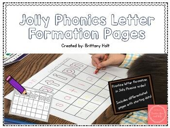 letter formation practice  jolly phonics order  junior