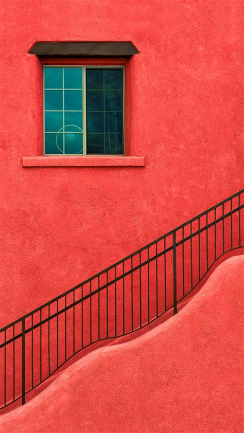 red house wall window stairs  htc  wallpapers