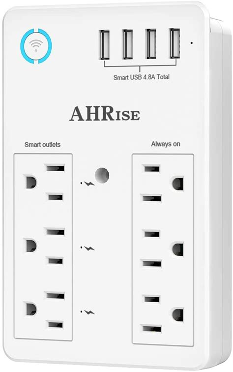 smart surge protector plug wifi usb ports 8a charger wall voice control