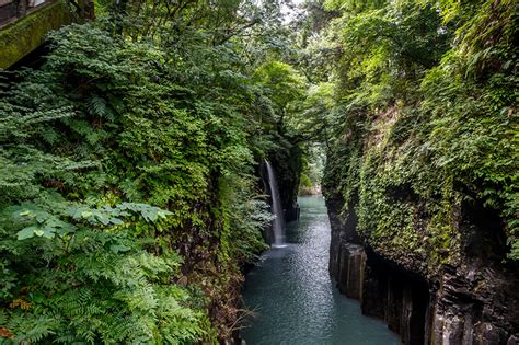 Pictures Japan Takachiho Gorge Crag Nature Waterfalls