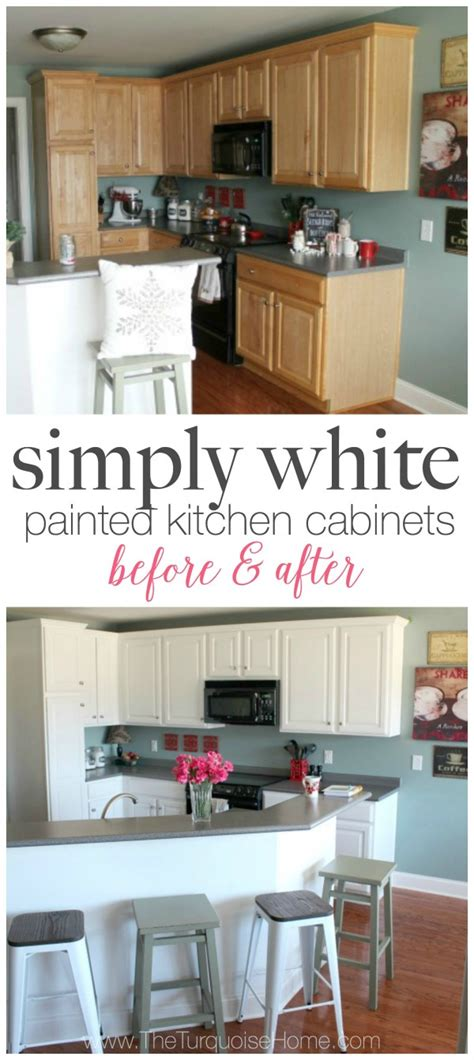 benjamin moore simply white cabinets painted kitchen cabinets with benjamin moore simply white 321 | simply white painted kitchen cabinets before and after 2 e1452493349822