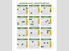 Calendario laboral 2017 Días festivos por Comunidades