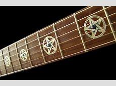 Pentagram Pentacle Kevin Bond Fret Markers Inlay Sticker