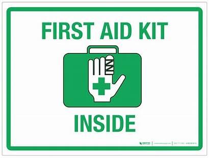 Aid Kit Inside Safety Signboard