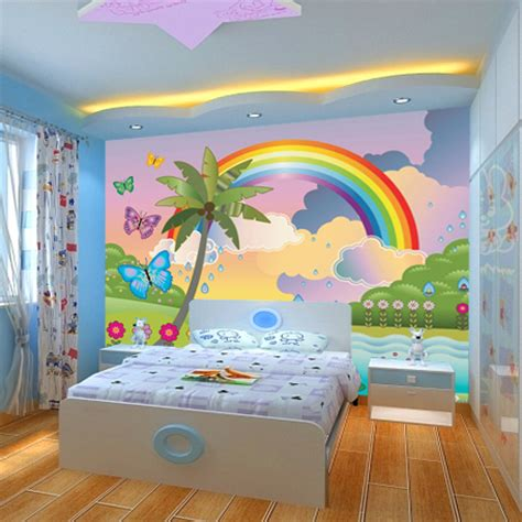 popular rainbow wall mural buy cheap rainbow wall mural