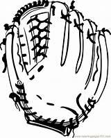 Coloring Glove Baseball Ganson Bw Printable Sports sketch template