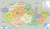 Political Map of Czech Republic - Ezilon Maps