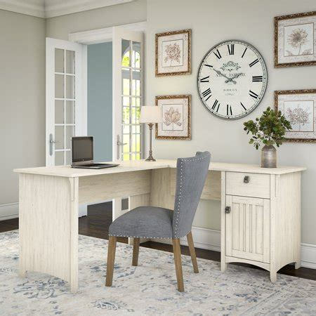 L Table With Storage by Bush Furniture Salinas L Shaped Desk With Storage In