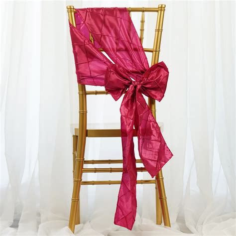 100 pintuck chair sashes bows ties for wedding