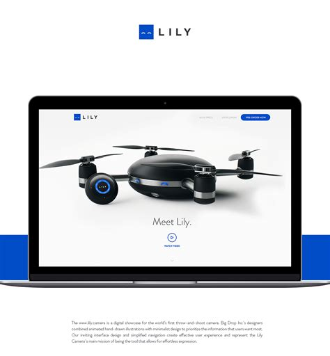 Lily Camera Website On Behance