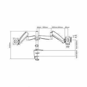 Gasdruck Berechnen : 2fach monitor tischhalterung 25 4 cm 10 68 6 cm 27 neigbar schwenkbar rotierbar newstar ~ Themetempest.com Abrechnung