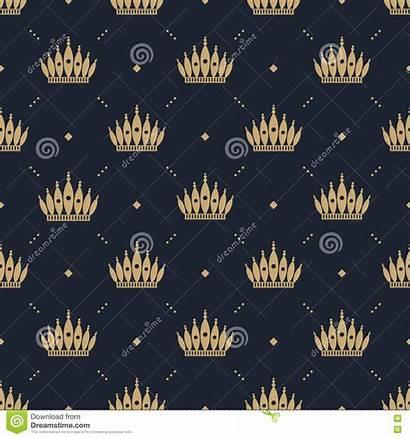 Pattern Fills Seamless Crown Retro Web Background