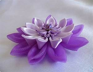 Handmade Fabric Flowers crafted from fabric or ribbon ...