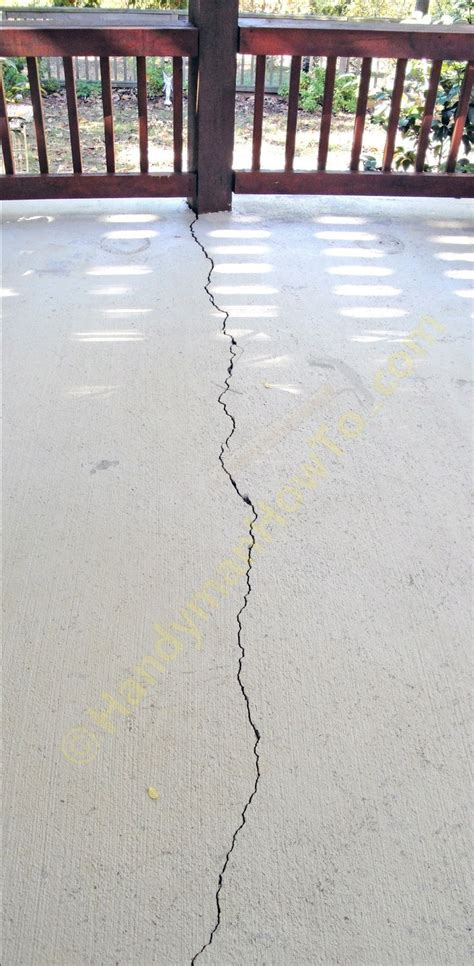 repair cracked concrete patio slab for the home