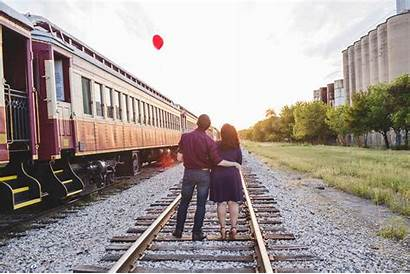 Railroad Historic Engagement Shoot Grapevine Andrea John