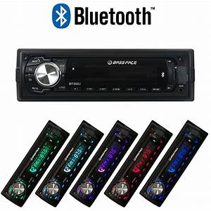 Bt200 1 12v Single Din Bluetooth Head Unit With Mp3 Aux