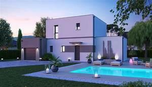 Maison Moderne Toit Plat : maison toit plat capucine plan maison toit plat gratuit ~ Nature-et-papiers.com Idées de Décoration