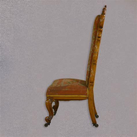 chaise prie dieu antique prie dieu chair needlepoint seat