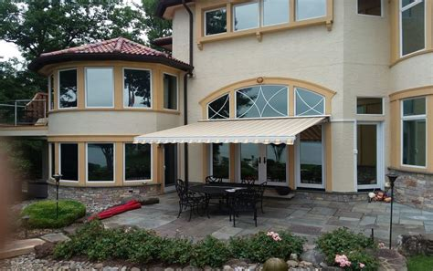 retractable awning installed shade  shield