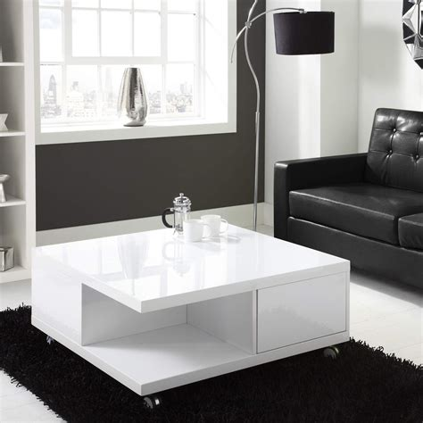 modern square coffee table modern white high gloss square coffee table with storage