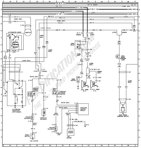 Ford Truck Wiring Diagram by 1972 Ford Truck Wiring Diagrams Fordification