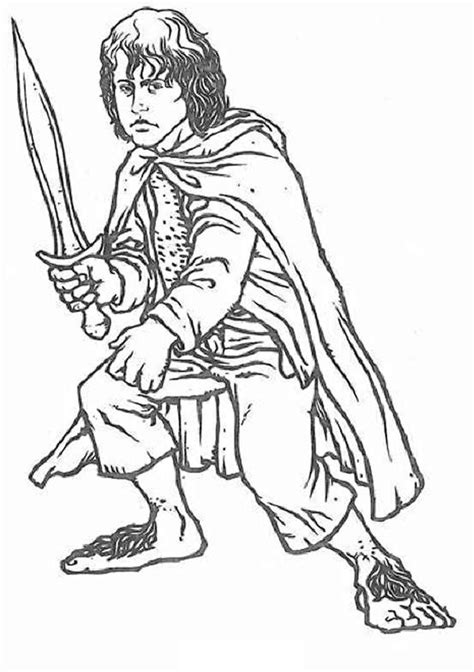 printable lord   rings coloring pages  kids