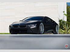 Matte Black BMW i8 with air suspension