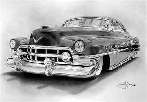 1950 Cadillac Drawing Drawing By John Harding