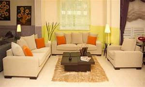 Modern living room ideas for small spaces with beige sofa for Modern small living room design ideas