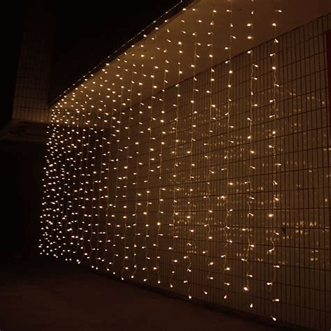 curtain outdoor christmas lights 3m x 3m 300 led outdoor window curtain icicle christmas