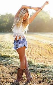 Does a girl who wears cowboy boots and shorts look weird ...