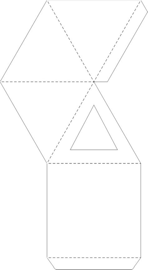 Pyramid Gift Box Template – Craft Ideas for Kids