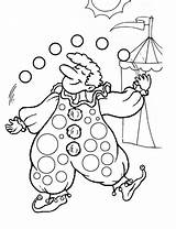 Clown Coloring Pages Printable Colouring Circus Juggling Clowns Carnival Clipart Sheets Carousel Activity Animals Getcoloringpages Popular Kidspot sketch template