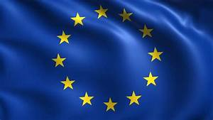 The Flag Of The European Union Waving In The Wind High