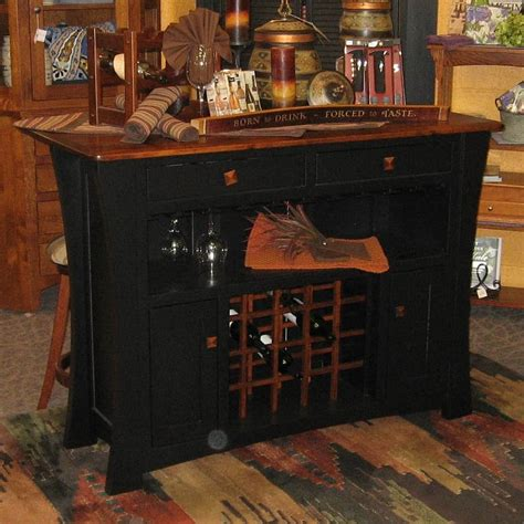 Bar Island by Arts And Crafts Two Tone Bar Island Brown Maple Black And