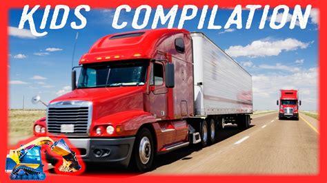 semi trucks machines  kids  minutes youtube