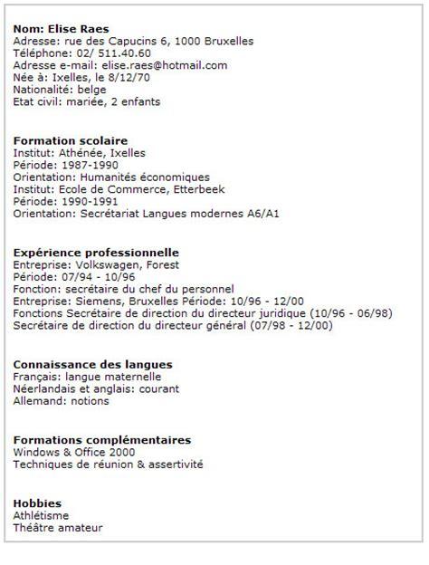 modèle cv lycéen sans expérience exemple d un cv d 233 tudiant resume template