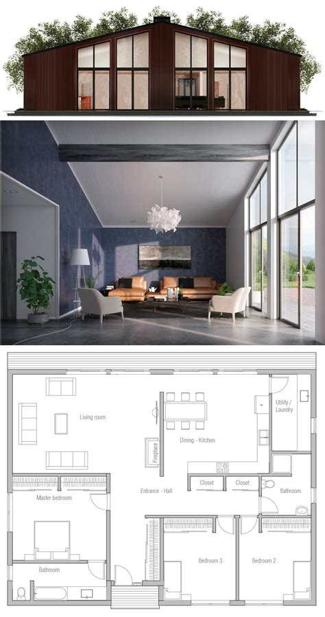 Small Modern House Design Home Plan with three bedrooms